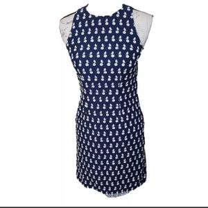 Ann Taylor sleeveless floral embroidered dress